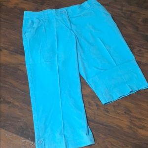 Coldwater Creek teal cropped pants